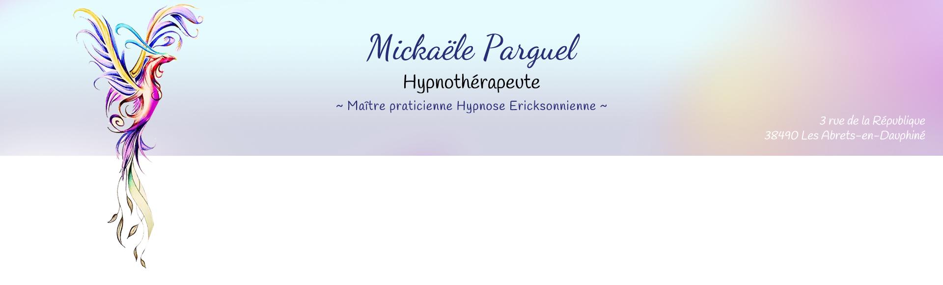 Mickaële Parguel - Hypnothérapeute aux Abrets-en-Dauphiné - En-tête du site
